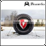 Commercial use inflatable car wheel/inflatable replica tire models for advertising