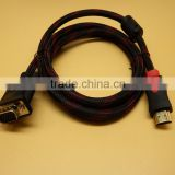 Custom 15 pin female vga to male hdmi cable gold plated 1.5m
