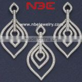 wax micro setting diamond jewelry set