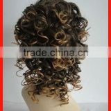 Pretty Afro Curly Hair Wig Multi Color Wigs High Quality Accept Sample Order