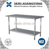 NSF approval detechable prep stainless steel work table for commercial kitchen or restaurant