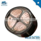 waterproof copper wire electric flame underground 4 core with steel tape armored electrical power cable