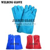 Light Blue Welding Cow Leather Work Glove Welding Glove/Guantes De Cuero 038