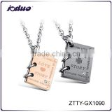 New Arrivals Laser letter Love Story Stainless Steel Necklace