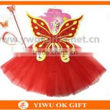 Wholesale Price Girls Sequined Butterfly Angel Wings with Tutu Skirt Halloween Christmas Party Cosplay Costume
