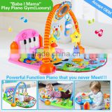 hot sale and new piano fitness frame toys.china kids toys play gym mat musical baby play mat piano kick play mat