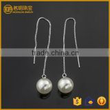 Fashionable jewelry big imitation pearl fashion earring jewellery long cartilage earrings for girls daily wear