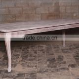 Indonesia Furniture - Curved Ends Table Reclaimed Teak Furniture Indonesia