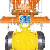 Pipeline Ball Valve with Gas Over Oil Actuator