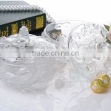 2014 New Products Crystal Sugar Bowl With Lid