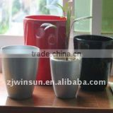 2011 Imitation Ceramic TOP Grade painted flower pot for garden ware