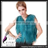 CX-G-B-199B Long Hair 2016 New Genuine Goat Fur Vest