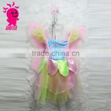 New Arrival High Quality Colorful Kids Party Fairy Dress with Wing Girls Forml Party Dresses