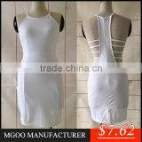 MGOO Top Selling Fast OEM/ODM Made White Bandage Dress Pop Bodycon Party Dress Fashion Shealth Prom Dress for Women
