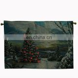 christmas tree wall tapestry with led lights