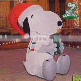 Inflatable Snoopy Santa