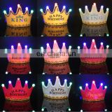 Happy birthday party decoration Led crown hats
