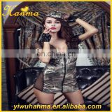 Hot sale popular 6 piece suit costume camouflage uniform simple sex cosplay