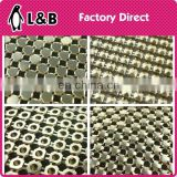 Wholesale fashion garment bag shoes accessory 3mm 4mm 6mm 8mm aluminum sequin mesh sheet flexible metallic mesh fabric