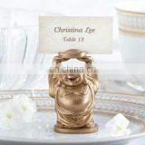 """Happy Buddha"" Golden Buddha Place Card/Photo Holder"