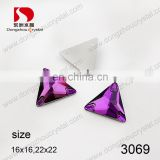 DE-3069 triangle shaped crystal sew on stones for clothing