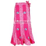 PINK PRINTED GIRL LOVER COTTON FASHION WRAPROUND