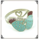 Table decoration enamel effect metal love napkin ring