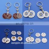 Canadian lonnie and quarter two trolley coin key chains with custom logo