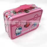 Beautiful cartoon lunch tin box with handle