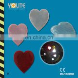 CE EN13356 Reflective heart clip ,Reflective bicycle wheel clip for personal safey at night