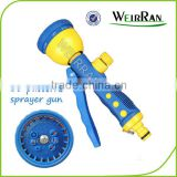 (84572) Hose end sprayer, revolve cleaning nozzle sprayer, pistol 10 functions vertical small garden spray gun