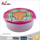 PP plastic food container 5pcs/set for houseware                                                                                                         Supplier's Choice