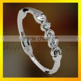 honorable women's bracelet with CZ silver color titanium or stainless steel bracelet
