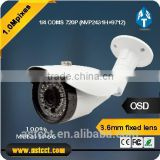 Low Cost 100% Metal IP66 Bullet CCTV AHD Camera 720P COMS 2MP Camera AHD Bullet Waterproof Night Vision 3.6mm fixed lens                                                                         Quality Choice
