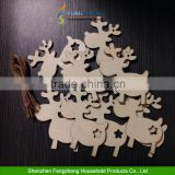 Xmas Tree Decorations Reindeer Star Snowman Santa Bell Wooden Christmas Tree