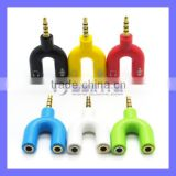 Earphone Headphone Jack Ear Cup Splitter Adaptor Music Share Set