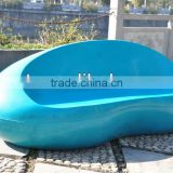 Candy Colors Fiberglass Outdoor Chair Cobble Shape