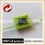 Fashional good quality plastic seal tag with logo string hang tag luggage tag rubber loop