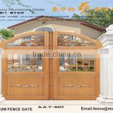 Modern Aluminium main gate designs for home villa and garden AJLY-602