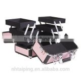 popular pink cosmetic case for jewelry and makeup tools