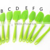2016 Hot Sale High quality 100% FDA and LFGB Food Grade Colorful Silicone Spatula set Cooking tools