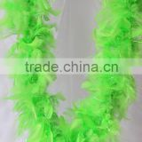 "Wholesale Products Green 60g 72"" Turkey Feather Boa And Feather Scarf For Wedding Decoration"