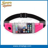 (#1 fitness belt) lycra touch screen money belt fanny pack custom logo Hiking Biking Pack for iphone samsung nokia huawei