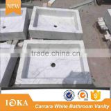 Statuario Carrara White Marble Bathroom Vanity Top                                                                         Quality Choice