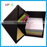 Black color Foldable Square Cube Pen Holder Sticky Note Memo Pad Holder