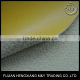Flocking Micro Fiber Leather Stock Lot, PU Synthetic Leather Price Cheap