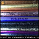 Good Quality Metallic Stone Pattern Glitter PU Synthetic Leather Fabric Supplier In China