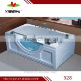 Acrylic Glass with window Massage Bathtub with pillow