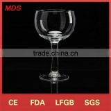 Holder type wine-shaped crystal glass candlestick for candles