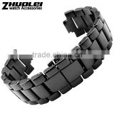 22*11|19*9mm high quality ceramic Watch bracelet for men's and women's with stainless steel buckle Wholesale 3PCS